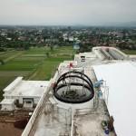 Pemasangan Atap Kubah Observatorium