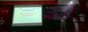Kuliah tentang Instrumentasi Astrofisika termasuk membahas teleskop radio oleh Dr. Pham Ngoc Diep dari Vietnam National Space Center